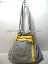 HIFA Wholesale Summer Silver Canvas Handbag