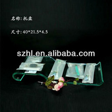 Clear acrylic bathroom amenity tray wholesale