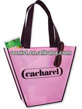 Pink Nonwoven reusable printed shopping bags