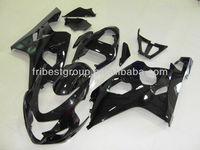 ABS Fairing Kit For SUZUKI GSXR600 GSXR750 04-05 All Gloss Black Fairing Kit