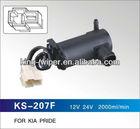 KS-207F Washer Pump for KIA PRIDE, 12V Pump, 985104B000
