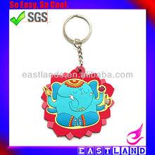 Custom High Quality Lovely Cartoon Mini 3D Silicone Animal Shape Keychain Animal