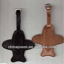 Nice Quality Airplane Shape Leather Travel Tags Supplier