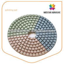MIDSTAR flexible hard polishing pad for granite