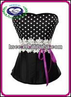 2014 Fashionable Dot Lace Girls Sexy Corset Catsuit Wholesale