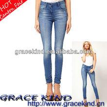 2014 Latest European Skinny Fade Woman Jeans Stretch Denim(GK05130013)