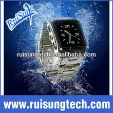 """1.8"""" touch screen Stainless Steel Waterproof watch mobile phone W818"""