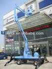 Telescopic hydraulic boom lift / Crank arm lift platform