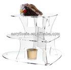 3 Tiers acrylic heart shape cake stand for wedding
