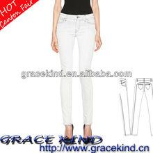 2014 Factory Wholesale Skinny Woman Jeans Denim Jeans White(GK05130040)