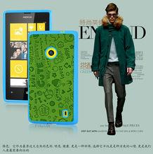 PC + PU Leather Case For Nokia 520 lumia Mobile Phone