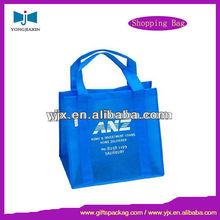 Square Bottom Blue Shopping Handle Bag