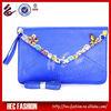 Neon Blue Diamond Envelope Day Clutches Ladies Party Bag