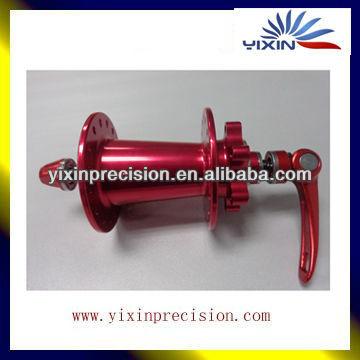 Fabricant professionnel loncin pièces de vélo de saleté et 49cc pocket bike pièces avec rouge anodisé métal cnc pièces de vélo