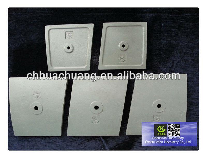 Cement Mixer Plate Cement Pan Mixer Lining Plate