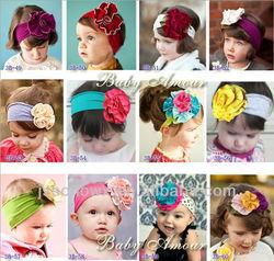 kids cotton headband, baby wide headband, fancy headbands for girls