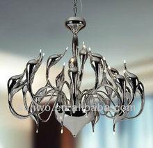 Silver Metal Swan Pendant Lights