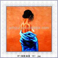 handmade abstract half naked woman painting