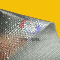 aluminum foil laminated fibreglass heat reflective fabric