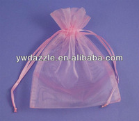 2015 printed wedding favor organza drawstring bags for gifts packing
