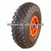 plastic center rubber wheel