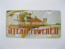 steam powered souvenir aluminum wall decorative metal art
