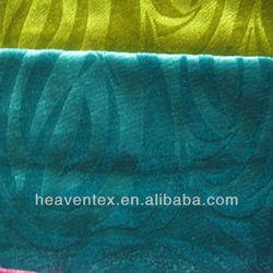 HX04004 100% polyester emboss velvet fabric