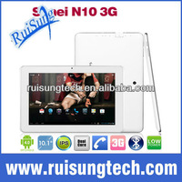 Sanei N10 3G tablet pc 10.1 inch IPS 1280x800 multi touch Qualcomm Dual core WCDMA Phone Call Bluetooth 3.0 GPS