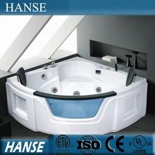 "HS-B027X decoration 69"" massage heated indor sex deep corner bath tub"