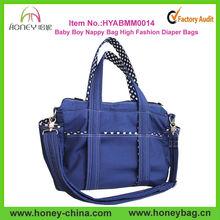 Stylish Blue Baby Boy Nappy Bag,High Quality Fashion Canvas Diaper Bag