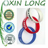 custom logo printed adjustable silicone wristband