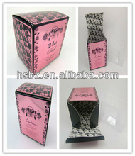 2015 popular pink packing box with plastic liner for perfume