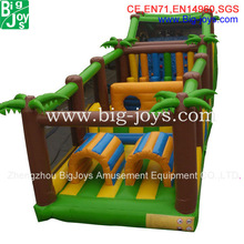 colorful obstacle course inflatable, fantasy inflatable obstacle games,outdoor obstacle course equipment