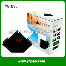 YGH375 2013 hot selling wake up lighting alarm clock/sunrise
