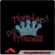Thunder Princess With Crown Rhinestone Heat Transfer Designs For Girls Dress