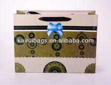 Luxury Ribbon paper shopping gift bag for flowers
