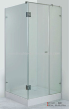 Square shape shower stall with hinge door