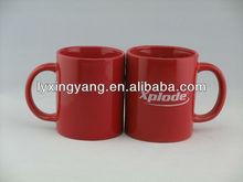 Red glazed ceramic mug &lipton coffee mug ceramic