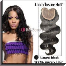Hot Beauty virgin brazilian light brown lace closure