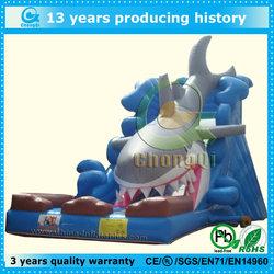 commercial new inflatable shark slide, nice shark inflatable slide on sale