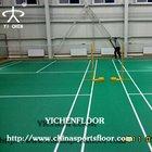 easy install and maintenance pvc sport floor/pvc badminton court mat