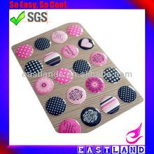 """Decorative 4C Color Dot Round 1"""" Adhesive Epoxy Sticker"""