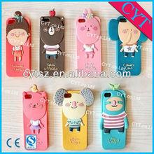 Cute bumper soft gel TPU case for mobile phone