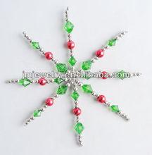 2015 very popular Christmas decoration,bead snowflake christmas crafts