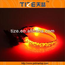 New USB Rechargeable leopard Series collar PET3100U pink light up dog collar