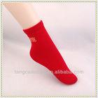 bright red women's bamboo socks