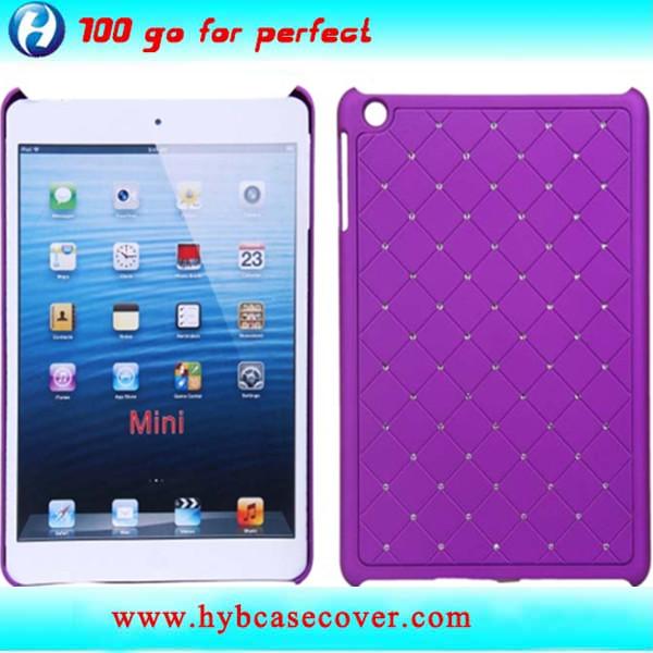 hard pc dimond custom design plastic case for ipad mini