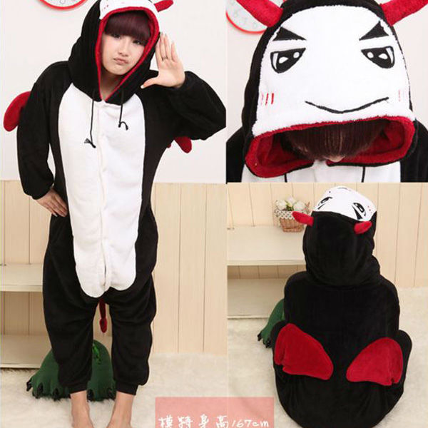 Unisex Adult onesie dress Sleepwear Costumes Animal Kigurumi Onesies Pajamas Devil S/M/L/XL Polar Fleece