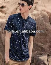 2014 fashion mens high quality spot polo shirt