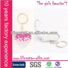 digital photo frame pink heart shaped crystal keychain